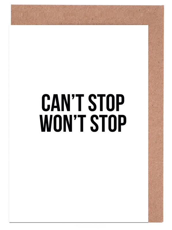Can't Stop Won't Stop Greeting Card Set