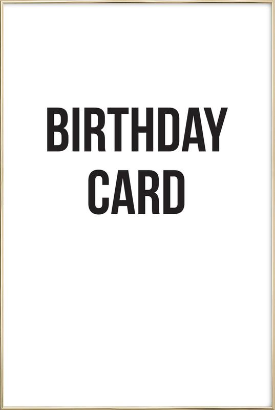 birthday card -Poster im Alurahmen