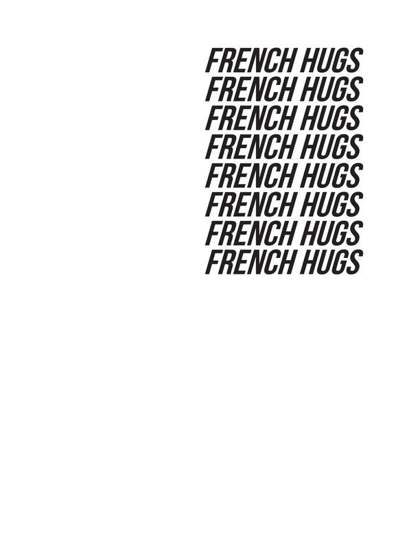 french hugs -Leinwandbild