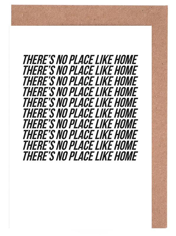 Citations et slogans, Crémaillères, Noir & blanc, theres no place like home cartes de vœux
