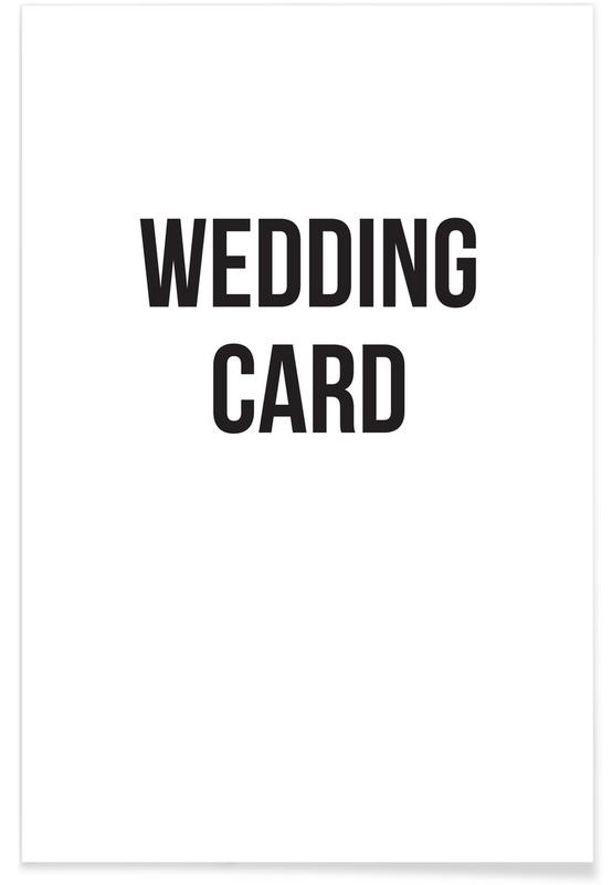 wedding card affiche