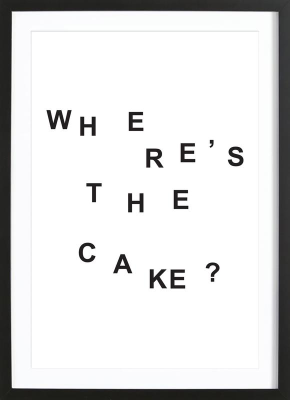 wheres the cake ingelijste print