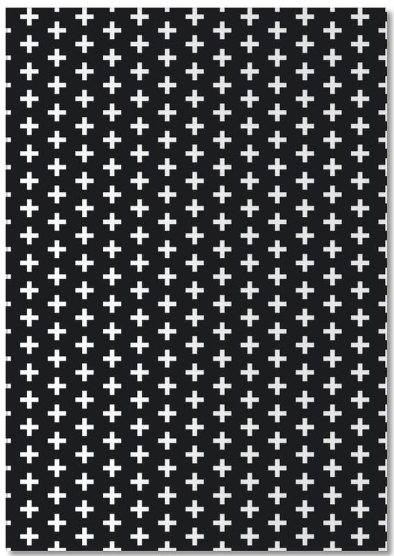 Black & White, Patterns, Cross Black And White Notebook