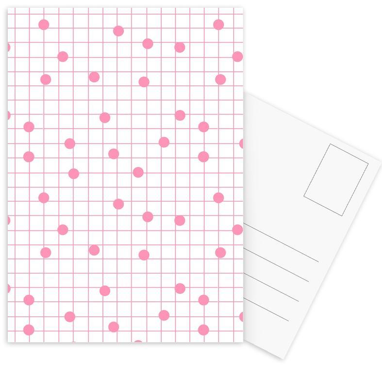 Patterns, Dotline Pink Postcard Set