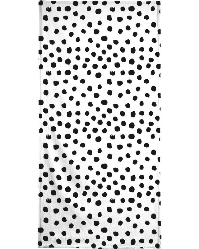 Dots Black And White Bath Towel
