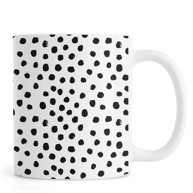 Dots Black And White Mug