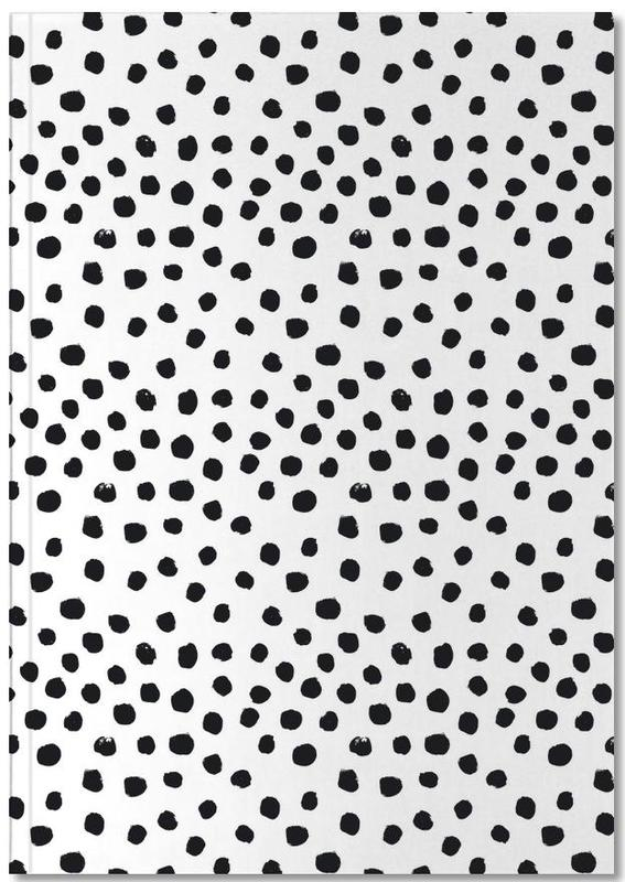 Zwart en wit, Patronen, Dots Black And White Notebook