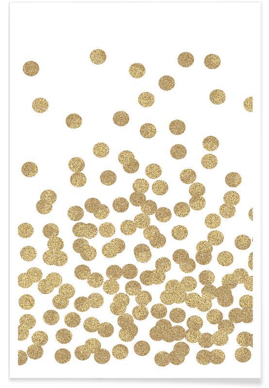 Felicitaties, Gold Glitter poster
