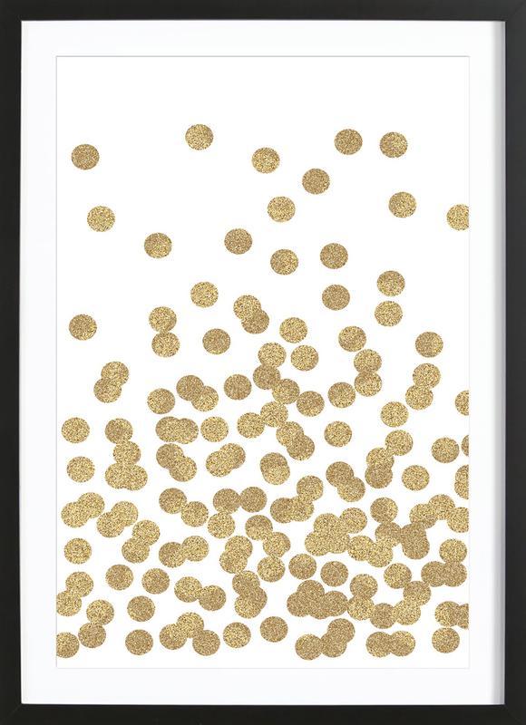 Gold Glitter ingelijste print