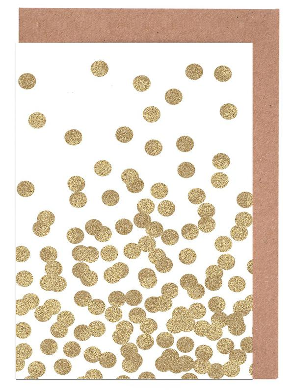 Gold Glitter Greeting Card Set
