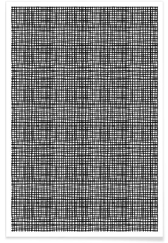 Black & White, Patterns, Grid Poster