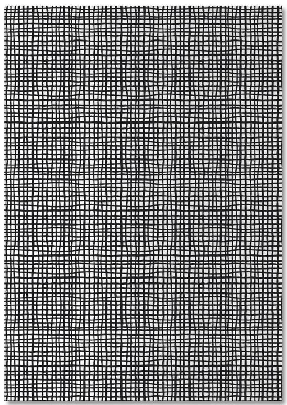 Black & White, Patterns, Grid Notebook