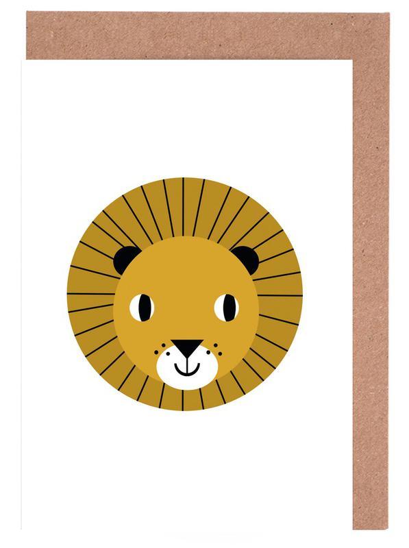 Lion Greeting Card Set