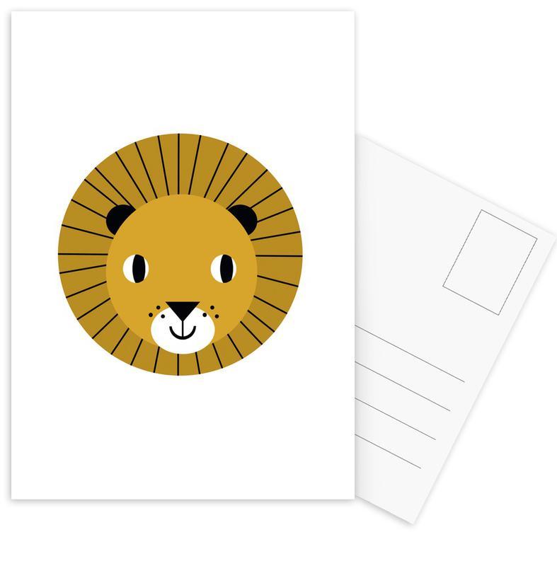 Lions, Nursery & Art for Kids, Lion Postcard Set
