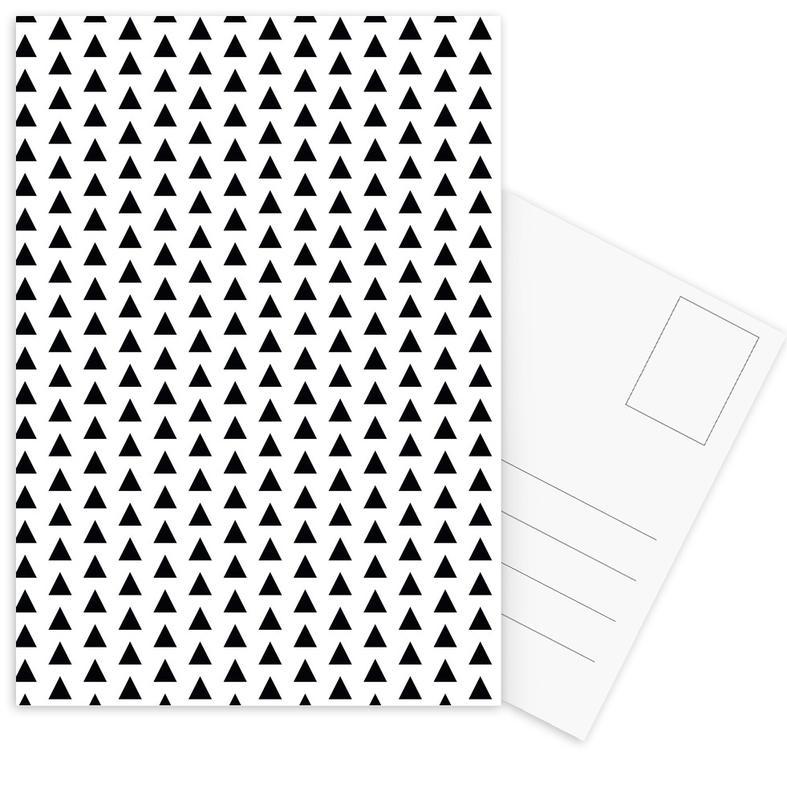Black & White, Patterns, Black and White Postcard Set