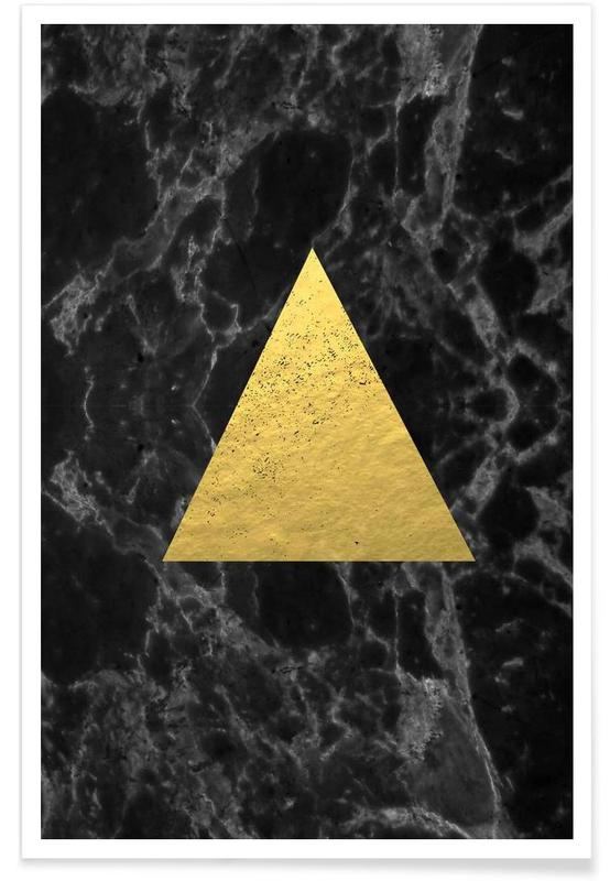 , Black Gold Marble poster