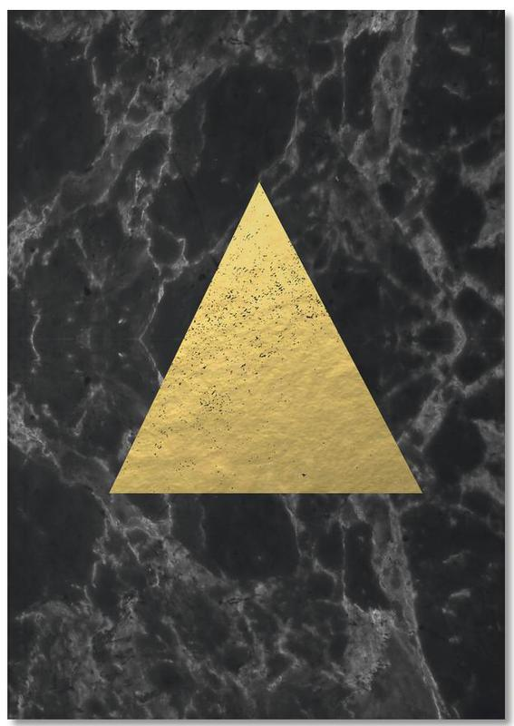 , Black Gold Marble Notebook