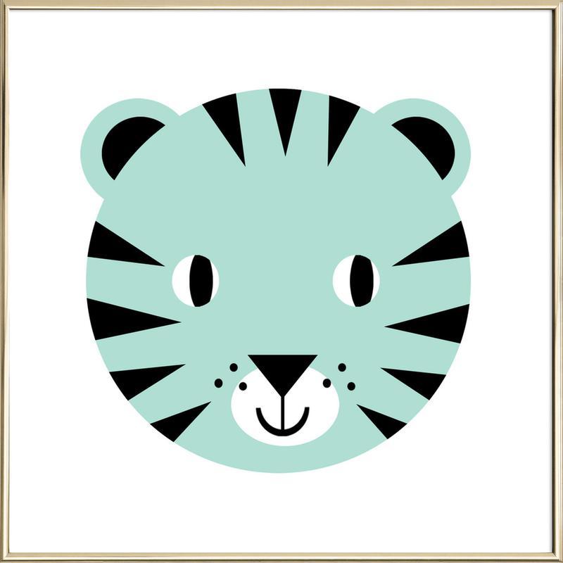 Tiger -Poster im Alurahmen