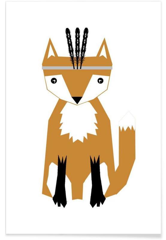 Vossen, Kunst voor kinderen, Southwest Fox poster