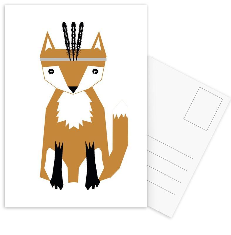 Foxes, Nursery & Art for Kids, Southwest Fox Postcard Set