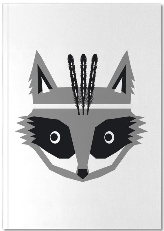 Black & White, Nursery & Art for Kids, Southwest Raccoon Notebook