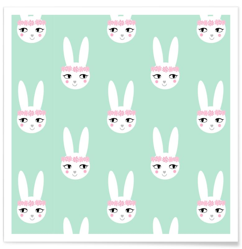 Easter Bunny Mint Poster