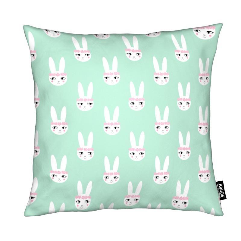 Naissances, Pâques, Art pour enfants, Lapins, Easter Bunny Mint coussin