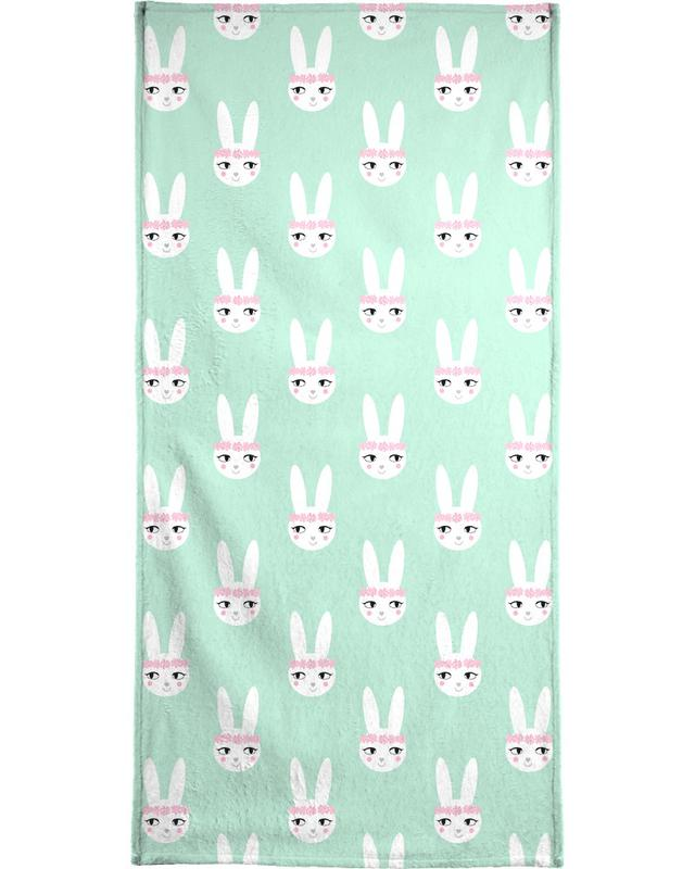 Easter Bunny Mint Beach Towel