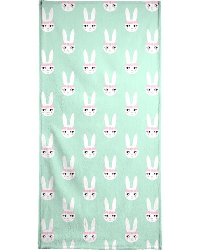 Easter Bunny Mint Bath Towel