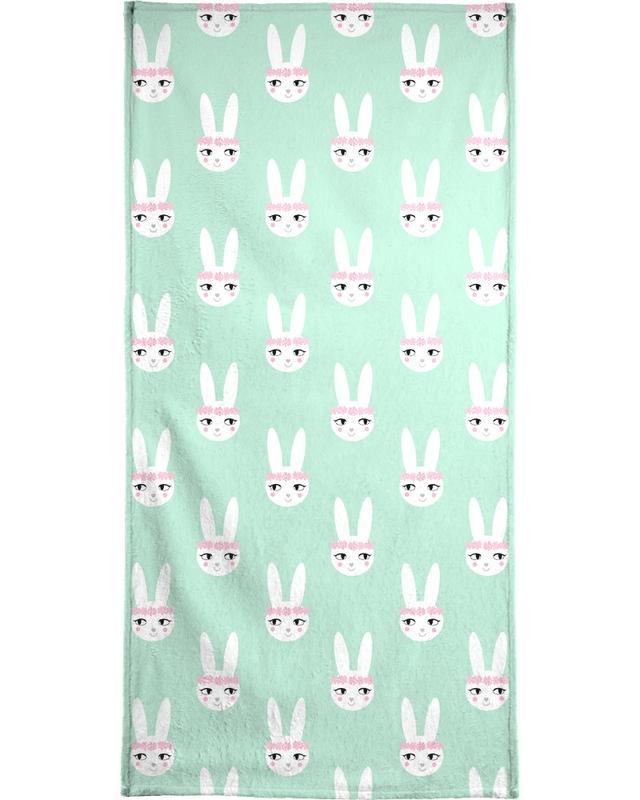 Geburt & Baby, Ostern, Kinderzimmer & Kunst für Kinder, Kaninchen, Easter Bunny Mint -Strandtuch