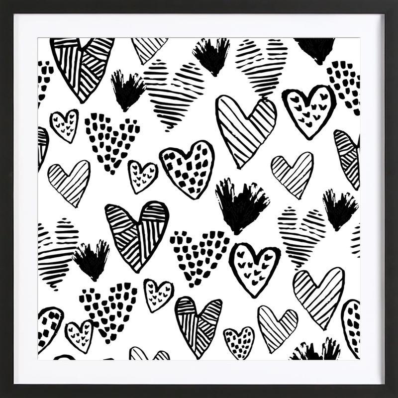 Valentines B&W Framed Print