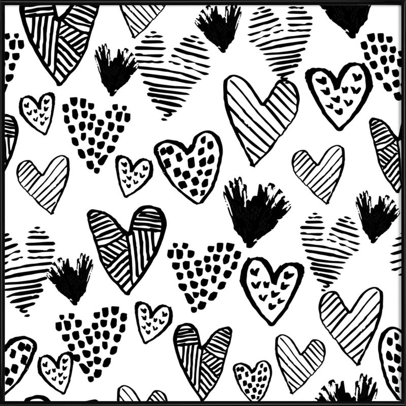 Valentines B&W Framed Poster
