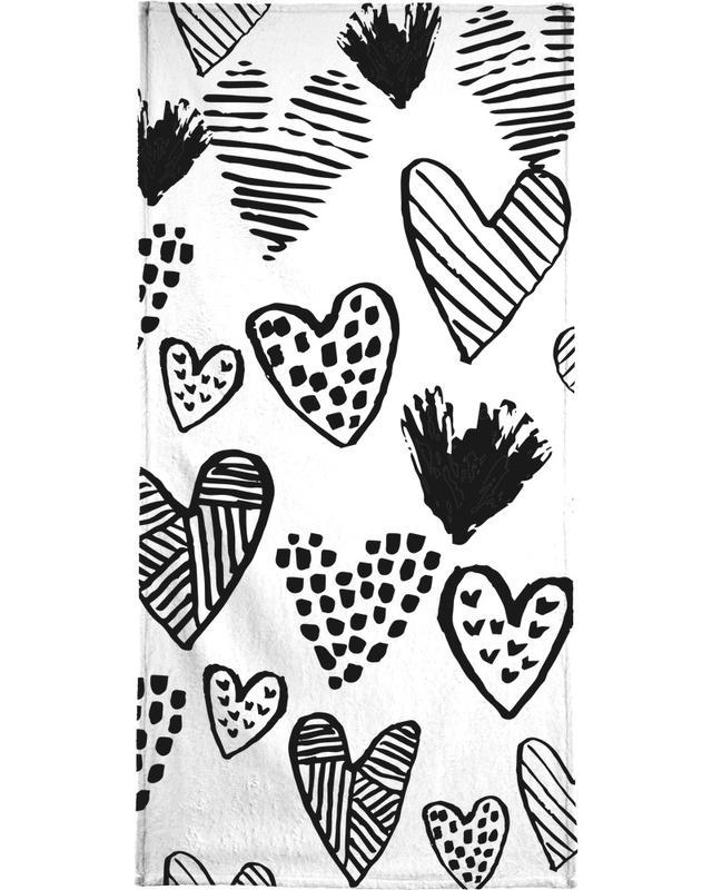 Valentines B&W -Handtuch