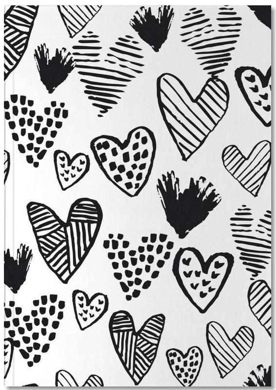 Valentines B&W Notebook
