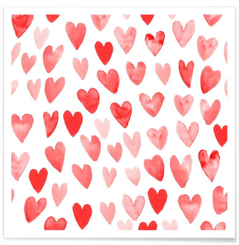 Valentines Hearts Poster