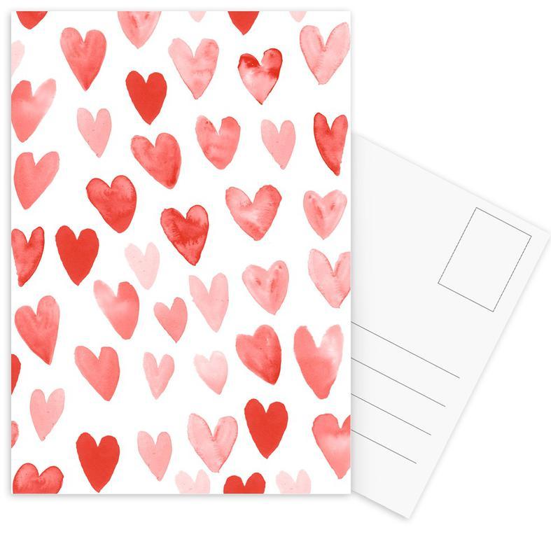 Anniversaries & Love, Hearts, Valentine's Day, Valentines Hearts Postcard Set