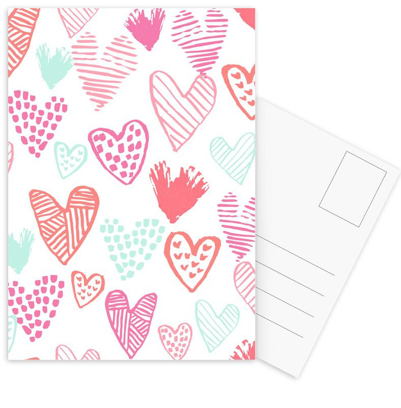 Valentines Pretty Postcard Set