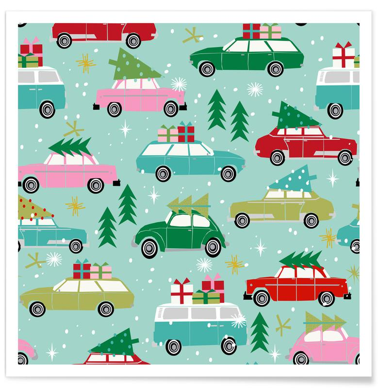 Kerst, Christmas Cars poster