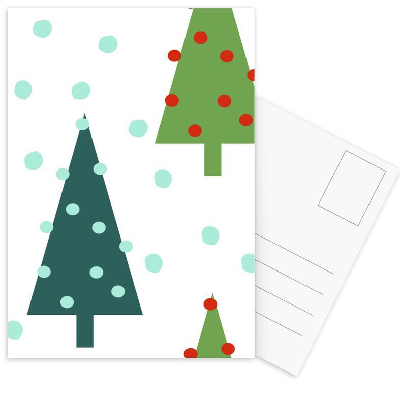 Christmas, Christmas Tree Postcard Set