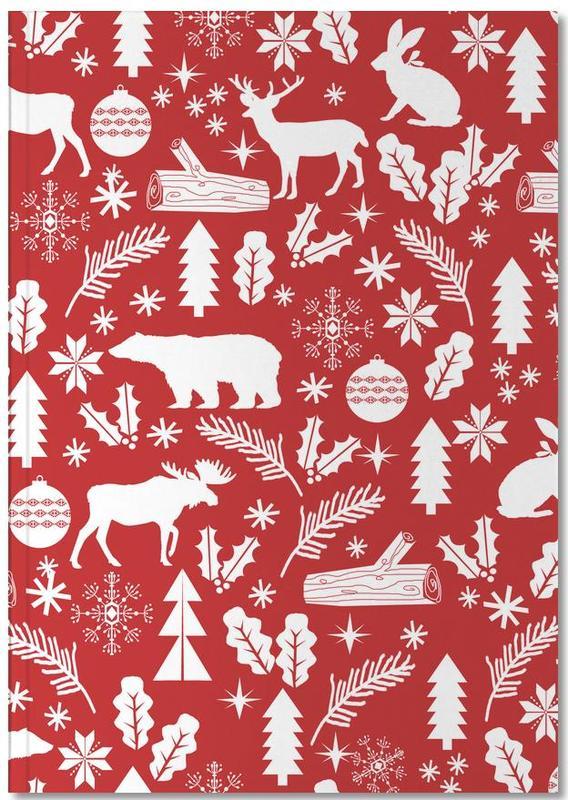 Kerst, Christmas Woodland Notebook