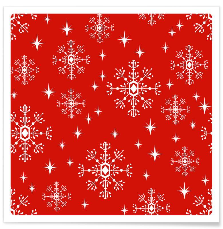 Kerst, Snowflake poster