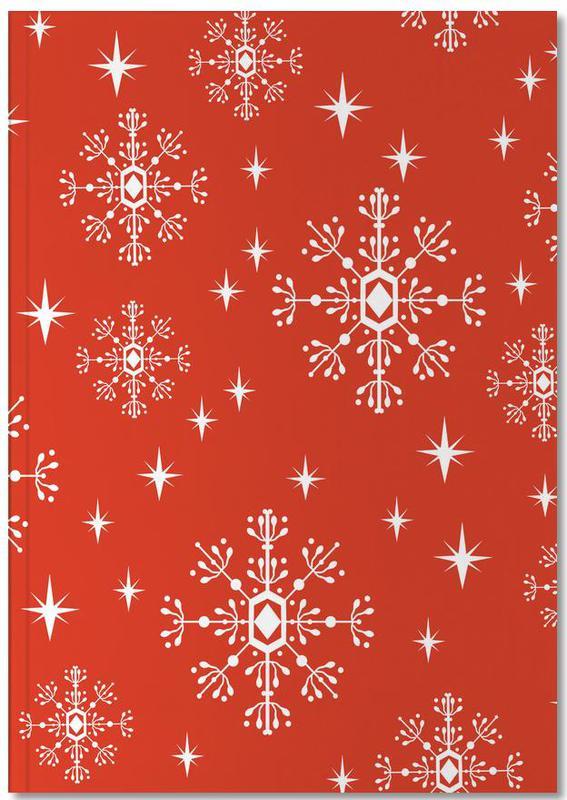 Christmas, Snowflake Notebook