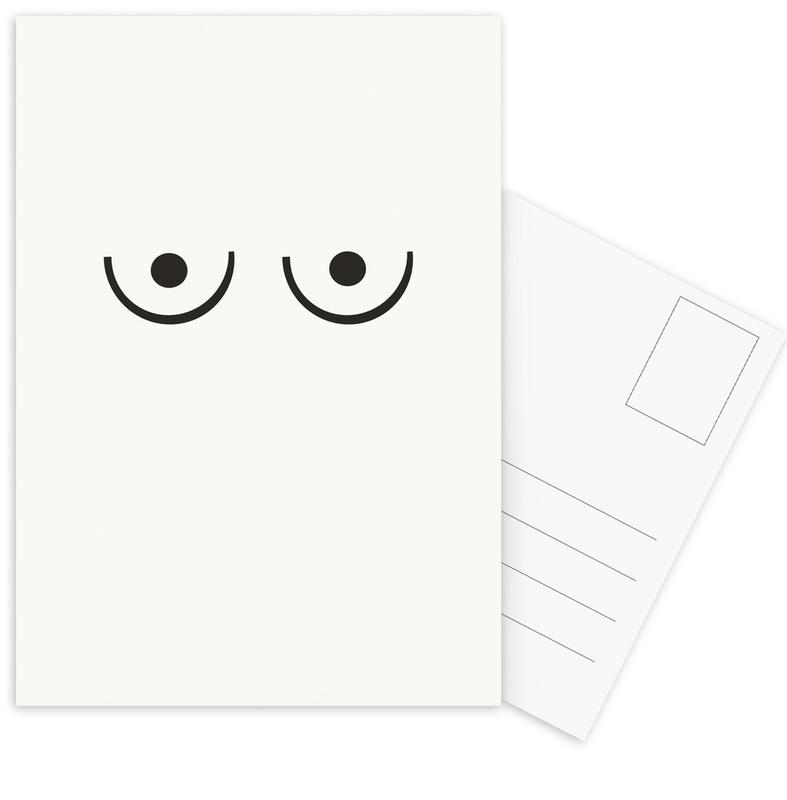 Black & White, Body Close-Ups, Ariadne Postcard Set
