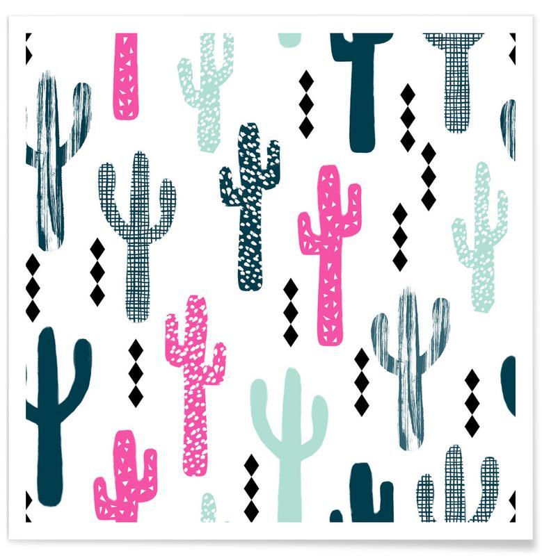 Kaktus, Cactus Magenta -Poster