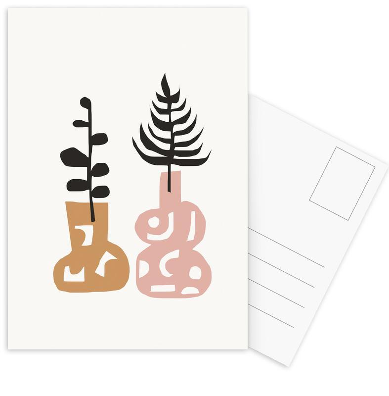 Leaves & Plants, Rhaab Postcard Set