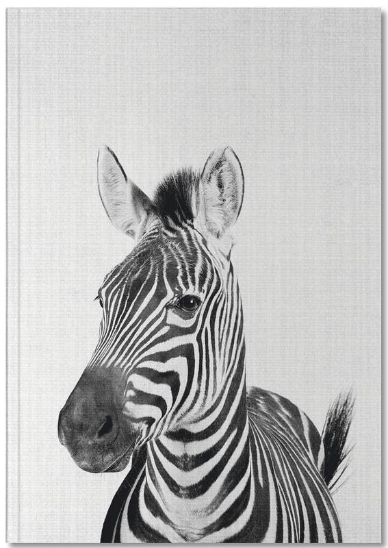 Zebra's, Zwart en wit, Kunst voor kinderen, Print 49 Notebook