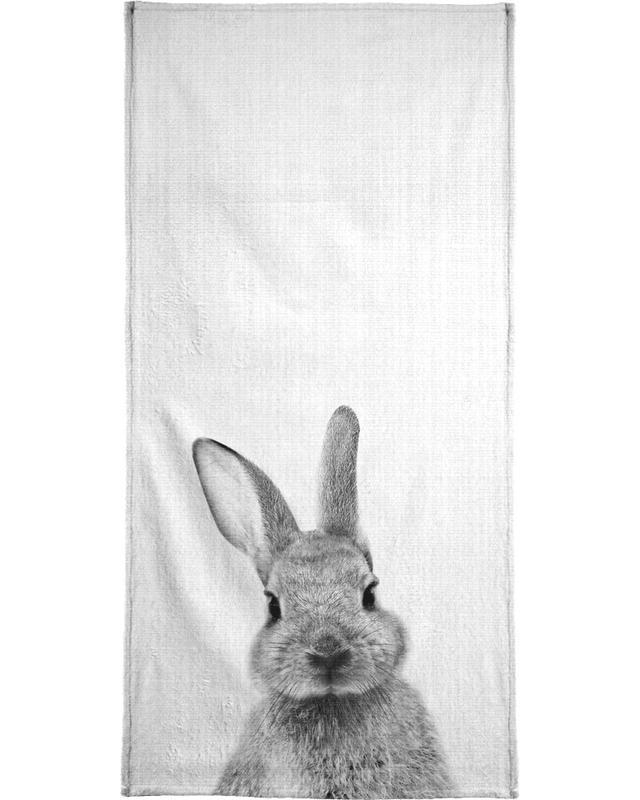 Art pour enfants, Lapins, Noir & blanc, Print 48 serviette de bain