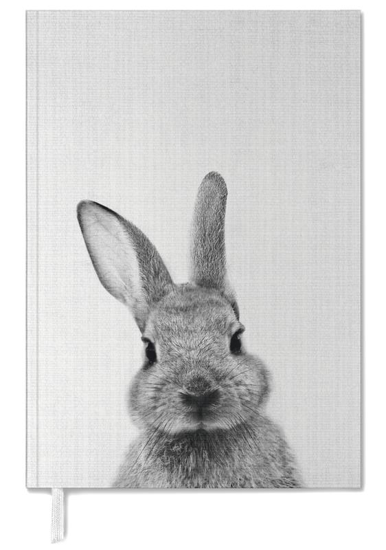 Noir & blanc, Lapins, Art pour enfants, Print 48 agenda