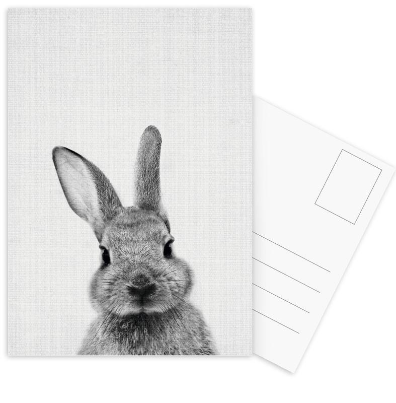 Zwart en wit, Kunst voor kinderen, Konijnen, Print 48 ansichtkaartenset