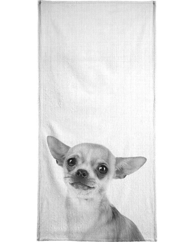 Chiens, Noir & blanc, Print 53 serviette de bain